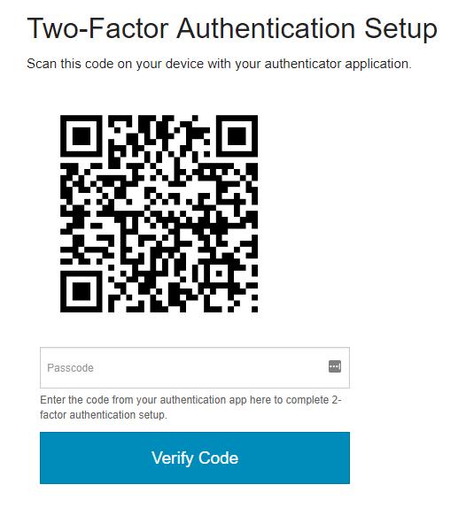 2FA Setup: Enter Code